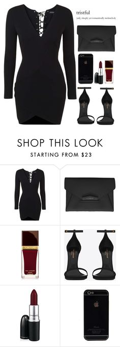 """""""exchange • tiller"""" by daisym0nste ❤ liked on Polyvore featuring Topshop, Givenchy, Tom Ford, Yves Saint Laurent and MAC Cosmetics"""