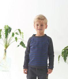 Mister Monkey and Misses Butterfly - baby- en kinderkleding - Lookbook - Inspiratie voor die schattige of stoere look | Mr Monkey & Mrs Butterfly - AW16 - Little Label - Winter 2016 - Sweater - Stripes - Blue/Grey