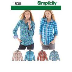 Simplicity 1538 Women's & Men's Top
