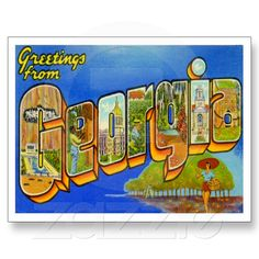 Greetings from GEORGIA GA Post Card from Zazzle.com