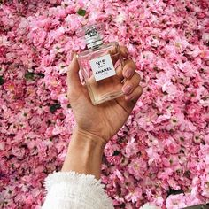 Chanel No5 and pink flowers. @thecoveteur