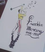 #ilusion_arts. Faltan 13 días para los #grammyawards2016 !!!! Y aprovecharé de hacer un dibujo diario en homenaje a los grandes artistas de la industria de la musica que ya descansan en paz...   Les dejo aquí un dibujo de #freddiemercury !!! (Idea de Mari Lagunas Barría )  Si lo desean, pueden dejarme en los comentarios algunas ideas para dibujos diarios (musicos, canciones, etc.)
