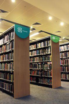 Estudo sinalização Biblioteca Deakin | Núcleo de Design Gráfico Ambiental - NDGA