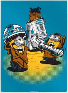 Despicable Jawas – Minions and Star Wars Poster.  If you like it, come VOTE IT UP to the front page at PosterVine.com Today!!!