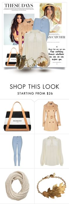 """Sem título #828"" by maddoxfinaly on Polyvore featuring moda, Balenciaga, Relaxfeel, Topshop, Temperley London e Pieces"