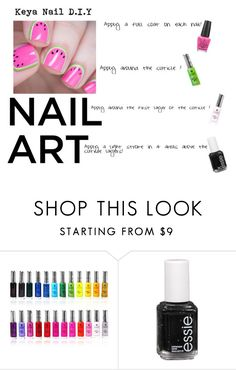 """another Nail D.I.Y"" by africanamericangoddess ❤ liked on Polyvore featuring Shany, Essie and OPI"