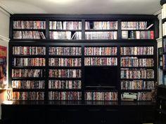Built-in DVD shelves