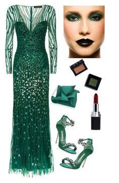 """Elegance in Sequence"" by kotnourka ❤ liked on Polyvore featuring Jenny Packham, Manolo Blahnik, N°21, Bobbi Brown Cosmetics and NARS Cosmetics"