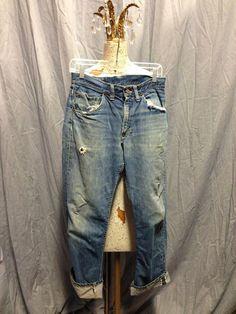 40's, 50's Copper King indigo jeans. Can't Bust 'Em. 31 x 28. Redline selvedge.