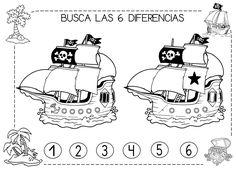 Mi grimorio escolar: BUSCA LAS 6 DIFERENCIAS PIRATAS