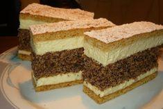 Ez nekem is tutira a kedvenceim közé kerülne! Hungarian Desserts, Hungarian Cake, Hungarian Recipes, Sweet Cookies, Cake Cookies, No Bake Cake, Vanilla Cake, Sweet Recipes, Cookie Recipes