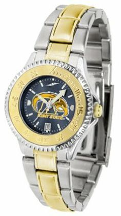 Kent State Golden Flashes Competitor AnoChrome Ladies Watch with Two-Tone Band by SunTime. $100.88. The ultimate NCAA fan's statement, this Kent State Golden Flashes Competitor Two-Tone timepiece offers women a classic, business-appropriate look. Features a 23kt gold-plated bezel, stainless steel case and date function. Secures to your wrist with a two-tone solid stainless steel band complete with safety clasp.The AnoChrome dial option increases the visual impact of any watch ...