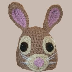 The Friendly Bunny Hat is a great way to get kids excited about Easter. Bulky yarn is used to complete this free crochet hat pattern, so it's quick to crochet and will keep your toddler's head warm in the winter weather. Beginner Crochet Projects, Crochet For Beginners, All Free Crochet, Crochet Baby, Crochet Afghans, Crotchet, Easter Crochet Patterns, Crochet Ideas, Beard Hat