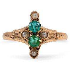 The Maclean Ring, 1850's emerald