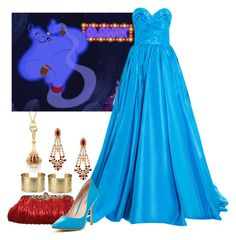 """DPN: Genie from Aladdin"" by eclare887 on Polyvore featuring Blue Nile, Monica Rich Kosann, Oscar de la Renta, Charles by Charles David, Mawi, women's clothing, women's fashion, women, female and woman"