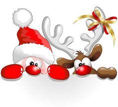 Веселый Санта - Векторный клипарт | Funny Santa - Stock Vectors