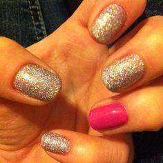 sparkles + pop or pink.