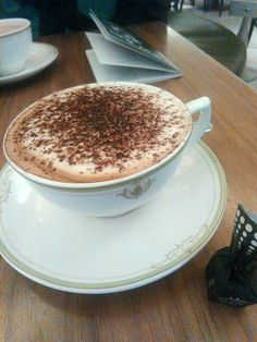Cappuccino at Harrods-London