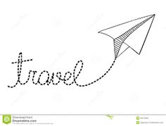 Paper Airplane Clipart Black And White - ClipartXtras