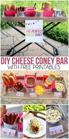 How to make the best cheese coney, love the cheese coney bar idea and all the fun summer party ideas on this blog! #KetchupsNewMustard #ad