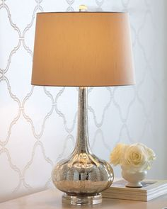 Nice antiqued glass table lamp by Regina-Andrew Design at Horchow.