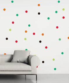 Rainbow Polka Dot Wall