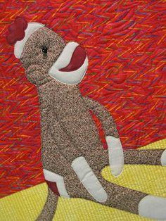 abstract sock monkey art