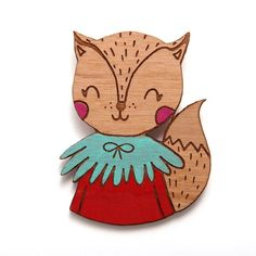 Smiling Kitty Kat Brooch