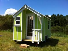 "<b><a href=""http://tinyhouselistings.com/easily-towable-72-sf-tiny-house/"">The 72 SF Tiny House</a></b> <br>Location: Eustis <br>Price: $16999 <br>Size: 72 sq ft  <br> <br>The lime green paint job is fun."