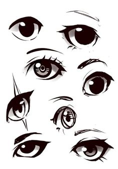 Eyes practice how to draw in 2019 manga eyes, anime eyes, realistic Illustration Art Dessin, Manga Eyes, Cartoon Eyes Drawing, Anime Drawings Sketches, Anime Sketch, Pencil Drawings, Drawing Expressions, Drawing Base, Cartoon Art Styles