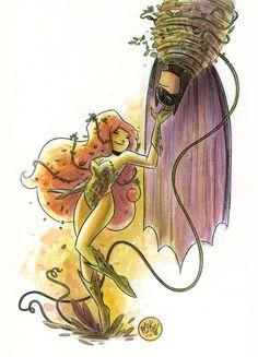 Poison Ivy & Batman.