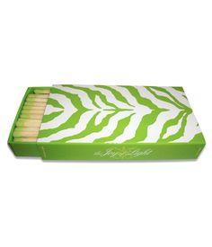 Green-tipped zebra matches, $7.