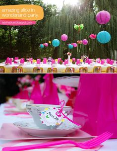 Alice in Wonderland Party-Cute  children birthday party idea