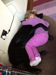 """When she comes home from a long day at school, having a bad day, been told off or sad... She cuddles her best friend."""