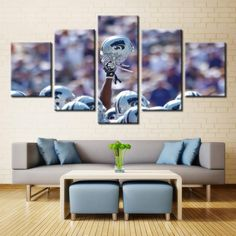 NFL White Helmet Wall Art #canvas #art #football #nfl #college #sport #wall