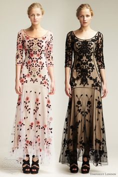 Elegant gowns from Temperley London Resort 2012 collection. Boho Fashion, High Fashion, Vintage Fashion, Fashion Design, Fashion Brands, Fashion Shoes, Dress Up, Mode Boho, Temperley