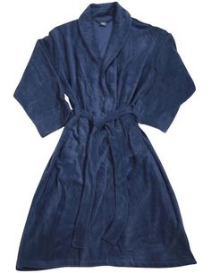Private Label - Mens Fleece Robe, Navy 32399-onesize Item 32399. Private Label. Machine Wash, Tumble Dry. True to Size.  #Private_Label #Apparel