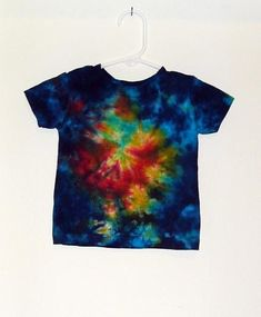 Tie Dye T Shirt Folded Stripes Toddler Handmade Tye Die 100 Cotton 2T 3T 4T