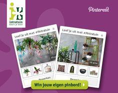 Op 22 september start de actie 'Leef je uit met #Pintratuin!' op pinterest.com/Intratuin. Je kunt aan de actie deelnemen door een Pinterest bord te maken met woonartikelen van Intratuin. Het bord moet minimaal 10 artikelen uit de najaarscollectie van Intratuin bevatten. De deelnemers met de mooiste en meest inspirerende borden winnen tien Intratuin-woonproducten van hun eigen pinbord. Check op intratuin.nl/acties alle actievoorwaarden voor deze actie.