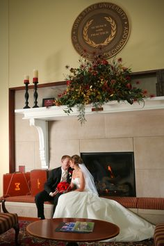 Don't forget to get a photo in front of one of our three fireplaces! ISU Alumni Center. Your Memories Photography.
