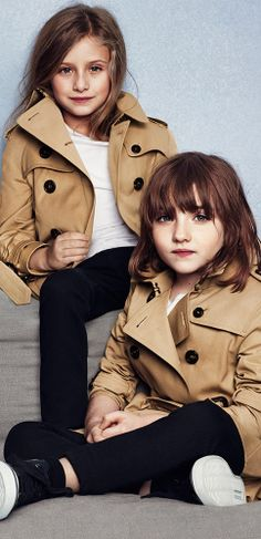 The iconic Burberry heritage trench coat in miniature
