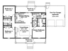 One Story Ranch House Plans | Country House Plan First Floor - 028D-0075 | House Plans and More