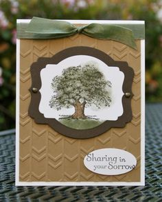 Stampin' Up! Lovely as a Tree Masculine Sympathy by skdeleeuw - Cards and Paper Crafts at Splitcoaststampers