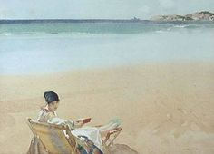 The Green Slippers by Sir William Russell Flint (1880-1969)