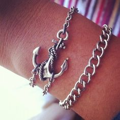 I made a pretty rad #anchor bracelet. - Click image to find more Women's Apparel Pinterest pins