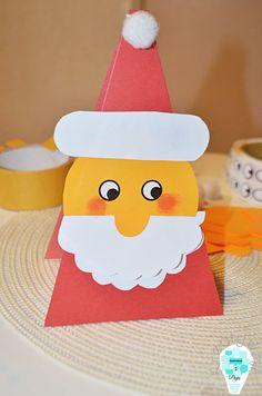 Geometric Santa Claus card