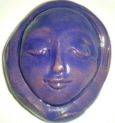 DREAM STONE  Purple Art Glaze  Ceramic  by InnerArtPeace on Etsy, $8.00