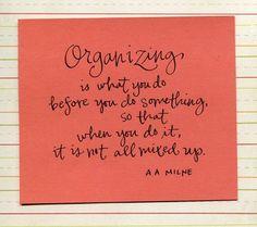 organizing....