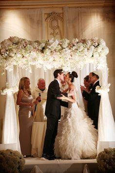 Brides: A Black-Tie Wedding at Essex House New York