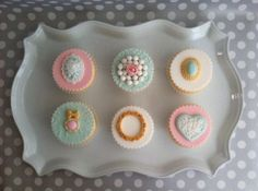 Shabby Chic Cupcake Toppers by SweetTooth Cakes and Sugar Flowers